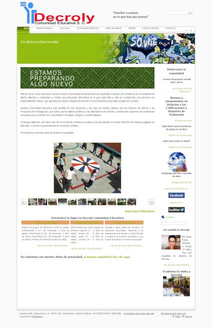 Sitio web de Decroly Comunidad Educativa